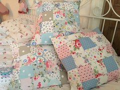 Patchwork cushions (patchwork and lace) Tags: handmade homemade patchwork cushions cathkidston lovemyhome patchworkandlace
