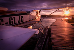 The Float Plane (NCP Imaging) Tags: sunset canada airplane pier flying nikon flight nwt d750 northwestterritories northern yellowknife floatplane iamcanadian cans2s
