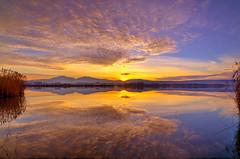 January Sunset (George Megas) Tags: sunset sky lake nature water clouds reflections landscape landscapes nikon colours outdoor january hellas greece wideanglelens ioannina giannena epirus tokinalens pamvotis pamvotida d7000 tokina1116f28 nikond7000 northwesterngreece