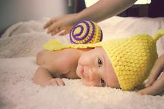 Ainhoa Caracolito (Juanedc) Tags: espaa baby girl beautiful animal yellow fauna costume spain snail nia zaragoza amarillo disfraz newborn aragon bebe es hermosa caracol saragossa beba ainhoa neonato valdespartera