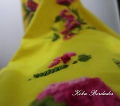 KikaBordados Kika  Krauss 079 (Kika Bordados by Angelica Krauss) Tags: pink flowers flores handmade embroidery laranja crochet tshirt amarelo bordados manualidades croche embroider feitomo camisetabordada camisetabordadamo bordadosfeitomo kikabordadoskikakrauss