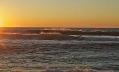 Day's End - Montara Beach (1) (Biking Nikon SFO) Tags: california sunset waves pacificocean sanmateocounty