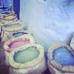 Powder. (Juliet everywhere) Tags: cameraphone travel color beautiful colorful colorphotography wanderlust traveller explore morocco chefchaouen iphone travelphotography travelphoto seetheworld iphonephotography iphoneonly