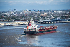 The Chemical Tanker MTM Westport Passes Through a Bend of the Mississippi River in New Orleans (scattered1) Tags: river mississippi la louisiana ship bend neworleans mississippiriver nola westport mtm tanker chemical navigate 2016 mtmwestport