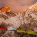 Everest from Kala Patthar 5600 m at sunset