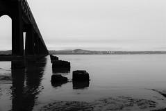 A Tale of Two Bridges (notsophotogenic1) Tags: bridge white black monochrome dundee tay disaster stumps