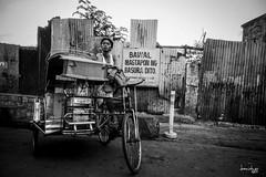 Sakay na po! (Daniel Y. Go) Tags: street bw mono sony philippines pedicab pinas kalye rx100m4 sonyrx100m4