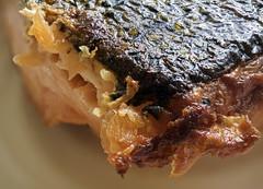 Baked Salmon -Skin side, focus stacked (neilalderney123) Tags: food macro olympus omd focusstacked foodscape omdem5mk2 2016neilhoward