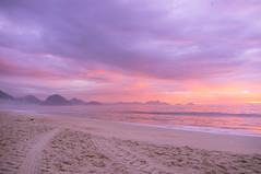 Copacabana Beach. (  thomasblacklock.com) Tags: morning pink brazil sun classic beach beautiful rio america sunrise de early amazing san janeiro south copacabana dreams fujifilm dreamy ipanema x100
