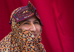 a bandari woman wearing a traditional mask called the burqa at panjshambe bazar thursday market, Hormozgan, Minab, Iran (Eric Lafforgue) Tags: people woman face horizontal outdoors persian clothing asia veil mask iran market muslim islam religion hijab culture persia headshot hidden covered iranian bazaar adults adultsonly oneperson islamic traditionaldress burqa customs ethnicity middleeastern sunni burka chador balouch hormozgan onewomanonly burqua  bandari  embroidering 1people  iro thursdaymarket  minab colourpicture  borqe panjshambe panjshambebazar boregheh iran034i2750