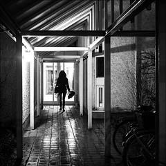 Verregnet - Rainy (Heinrich Plum) Tags: street white black monochrome umbrella abend blackwhite fuji candid plum streetphotography rainy monochrom schwarzweiss regenwetter schirm xe2 heinrichplum xf27mm regenabend