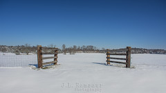 Winter Landscape (J.L. Ramsaur Photography) Tags: winter sky snow nature rural fence landscape outdoors photography photo nikon snowy tennessee entrance bluesky pic photograph americana thesouth snowscape cumberlandplateau winterweather cookeville winterlandscape frozentundra ruralamerica beautifulsky 2016 smalltownamerica putnamcounty deepbluesky cookevilletn skyabove middletennessee ruraltennessee ruralview cookevilletennessee ibeauty southernlandscape allskyandclouds tennesseephotographer snowcoveredlandscape southernphotography screamofthephotographer jlrphotography photographyforgod tennesseewinter d7200 engineerswithcameras godsartwork naturespaintbrush jlramsaurphotography nikond7200 cookevegas