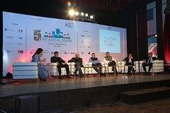 "Sonia Singh of NDTV moderating the Keynote Panel with 6 distinguished leaders from government, business & technology • <a style=""font-size:0.8em;"" href=""http://www.flickr.com/photos/10335921@N04/24798606085/"" target=""_blank"">View on Flickr</a>"