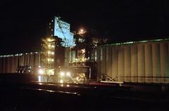 Grain Elevator (Orion Alexis) Tags: film night vancouver analog 35mm nikon industrial kodak elevator grain 400 analogue 135 fe cinematic portra
