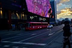photo (ninasehovac) Tags: road street city sky people cloud sun car lights day sarajevo streetcar