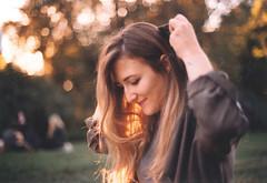 (Maria Pajakari) Tags: light summer film girl golden bokeh grain olympus hour solaris analogic