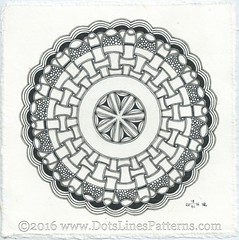 20160118_Zendala_Roundabout (terem13) Tags: zentangle zendala
