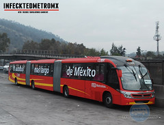 Neobus Scania Mega BRT Metrobus Prot 18 (infecktedbusgarage) Tags: mexico l1 mexican ciudaddemexico brt scania mega metrobus busrapidtransit mexicanbus biarticulado cdmx neobus