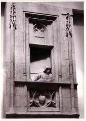 Where? (Ferencdiak) Tags: sculpture woman window balkony szobor ablak n erkly