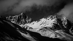 (matter :)) Tags: sunset white mountain snow black france alps ice monochrome les clouds contrast alpes 1 shadows samsung tignes nx 50150 nx1