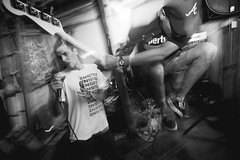 (. . .) Tags: chile show santiago light music white black blanco grey gris jump concert movement blurry punk long exposure dynamic angle y guitar low guitarra negro wide hardcore 2016 monochromo