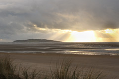 6/52Light  on the island (Leo Bissett) Tags: ireland light sea beach island sand dunes rush lambay