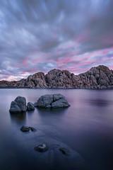 MPW_4043 (Michael-Wilson) Tags: longexposure pink sunset arizona rock clouds sunrise az granite prescott watsonlake michaelwilson