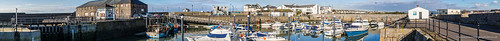 Porthcawl Harbour morning Panorama