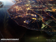 Aerial view of Lasalle (nizega) Tags: sunset canada night island dawn lights downtown view quebec montreal aerial lasalle mercier est ndg verdun hochelaga villeray