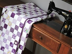 Purple Quilt (Cotton Cellar) Tags: baby modern quilt patchwork checkerboard