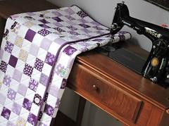 Purple Quilt (Cotton Cellar) Tags: baby modern quilt patchwork checkerboard