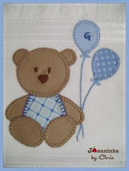 ursinho (Joanninha by Chris) Tags: baby azul handmade artesanato beb bordado ursinho enxovalbebe enxovalmenino aplicaodetecidos