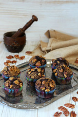MAGDALENAS DE ALGARROBA (by Ana M Espada) Tags: food dessert cupcakes recipes dulce carob nueces recetas magdalenas repostera algarroba cookthecake