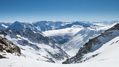 Innerschweiz (pass_the_popcorn) Tags: winter panorama sun sunlight white snow mountains rock clouds switzerland swiss sunny bluesky valley uri swissalps swissmountains snowpeaks summits bristen gorneren