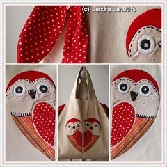 0016 - BLS - Bolso con Aplique (Sandra Janeth Saa Martínez) Tags: patchwork bolso hechoamano buhos apliques