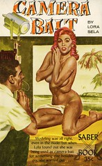 Saber Books SA-13 - Lora Sela - Camera Bait (swallace99) Tags: vintage 60s paperback saber sleaze handbra billedwards