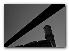 La haut (bong.13) Tags: blackandwhite france noiretblanc fort muse provence marseilles bouchesdurhone fortsaintjean mucem sonyrx100