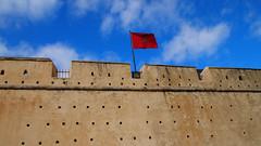 Bandera Marruecos (Valeria Fernandez Astaburuaga) Tags: sky flag bandera marruecos marrocos
