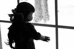 Solitude (Vuffy VonHoof) Tags: school b bw white black color colour girl lady vintage photography grey blackwhite inch doll dolls child dress sam g w retro american ag samantha 18 1900s in 18in 00s