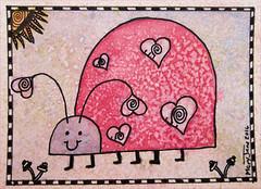 013016 Valentine Lovebug (purple_24) Tags: atc ladybug arttradingcard swapbot zendoodle