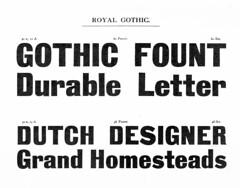 Royal Gothic (Stewf) Tags: font typeface typespecimen type:foundry=stephensshankssons