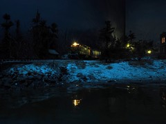 Maine CentralGP40 (MikeC4503) Tags: railroad winter night train layout model rail trains atlas locomotive