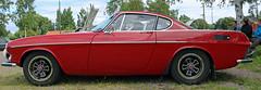 1970 Volvo P1800 E  B20 (crusaderstgeorge) Tags: red volvo sweden gvle e 1970 b20 p1800 redcars jrnvgsmuseum gvleborg jrnvgsmuseet swedenclassiccars 1970volvop1800eb20