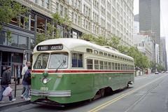 1998-07 San Francisco Tramway Nr.1055 (beranekp) Tags: california usa san francisco tram muni tramway strassenbahn tramvaj tranvia pcc 1055 elektrika elektrika alina