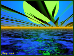 *Earth day... (MONKEY50) Tags: blue green art colors digital psp spring earth fullmoon bryce hypothetical musictomyeyes autofocus artdigital shockofthenew flickraward contactgroups exoticimage netartii