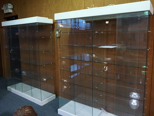 2 All Glass Lighted Curio Showcases (6' tall x 5' wide) ($550.00)