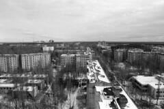 Chernobyl - , 30 years after explosion (Analog World Thru My Lenses) Tags: city abandoned march explosion radiation forgotten radioactive chernobyl nikonfa 2016 agfaapx400 sigma2470f28 priyat