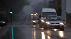 Green Light (mitchell_dawn) Tags: road reflection wet car rain weather lights trafficlight traffic rainy commute commuting headlight warwickshire commuters southam