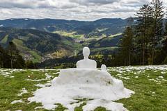 Schneemann (bollene57) Tags: schnee winter deutschland jahreszeit ereignisse schwarzwald schneemann 2016 gleitschirmflieger oppenau apil motorradtouren