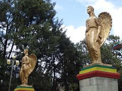 Angel figures, Addis Ababa (Insights Unspoken) Tags: church angel cherub christianity addisababa addis mariam ababa abeba kidist kidistmariam